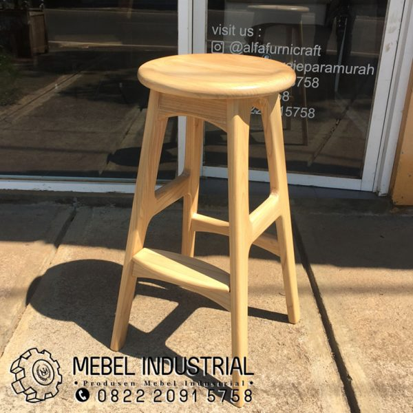 Jual Kitchen Bar Stool Cafe Kayu Jati Londo