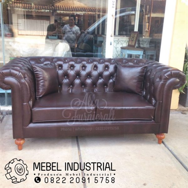 Jual Sofa Vintage Leather 2 Dudukan